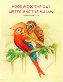 Hoodwink the owl meets Mac the Macaw